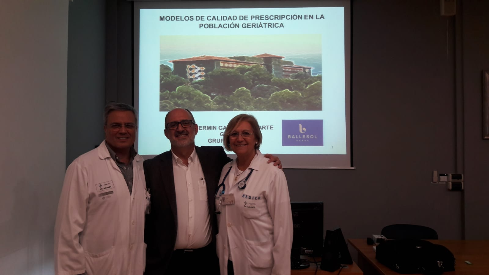 Ballesol sesion clinica Hospital Dr Moliner Valencia